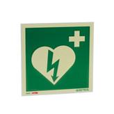 Skilt hjertestarter 20x20cm