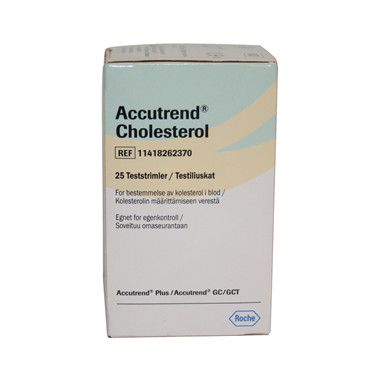 Accutrend®  Cholesterol Test Strips
