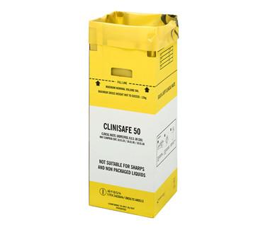 Clinisafe avfallsesker kartong 50L