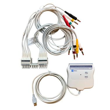 EKG med tolkning og pasient kabel