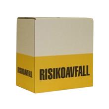 Risikoavfall kartong gul/hvit 44L