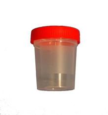Uringlass i Plast m/Skrukork 120ml