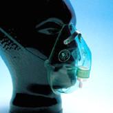 Maske oksygen u/slange grønn