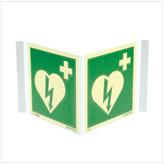 Skilt hjertestarter plog