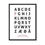 Alfabetplakat - Pige