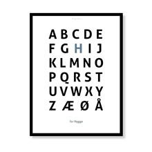 Alfabetplakat - Hygge
