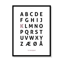 Alfabetplakat - Kærlighed