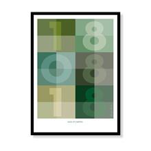 Datoplakat - Grøn