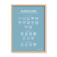 Vaskeguide - Lyseblå