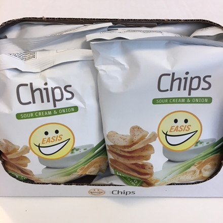EASIS Crisps Sour Cream & Onion 14 x 50g (a whole box)