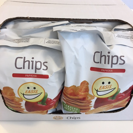 EASIS Crisps Paprika 14 x 50g (1 box)