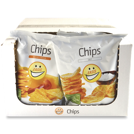 EASIS Chips Mix Salt & Nacho Cheese 14x50g