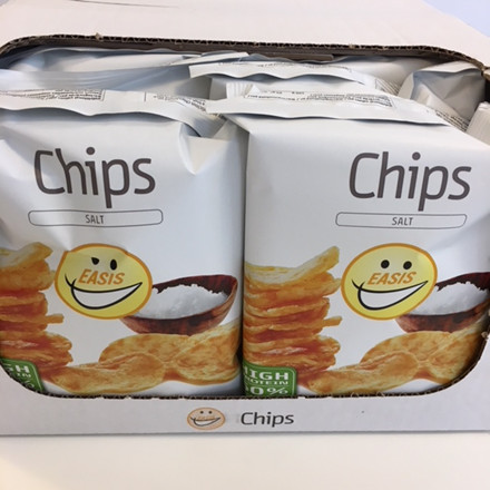 EASIS Chips med salt 14x50g (1 hel kasse)