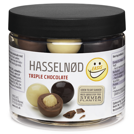 EASIS Hasselnød, triple chocolate