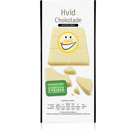 White chocolate with licorice flavour, 85 g