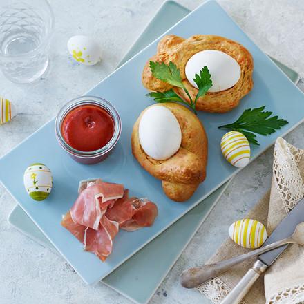 Påskebrød med æg