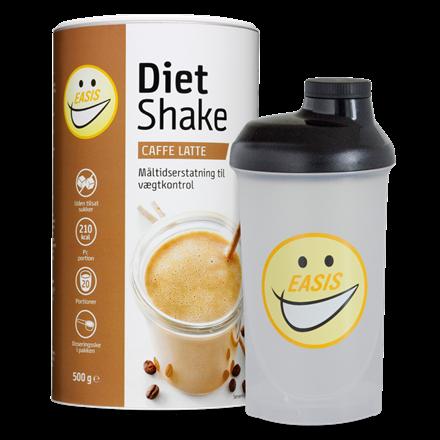Sampak Diet Shake Caffe Latte og Shaker