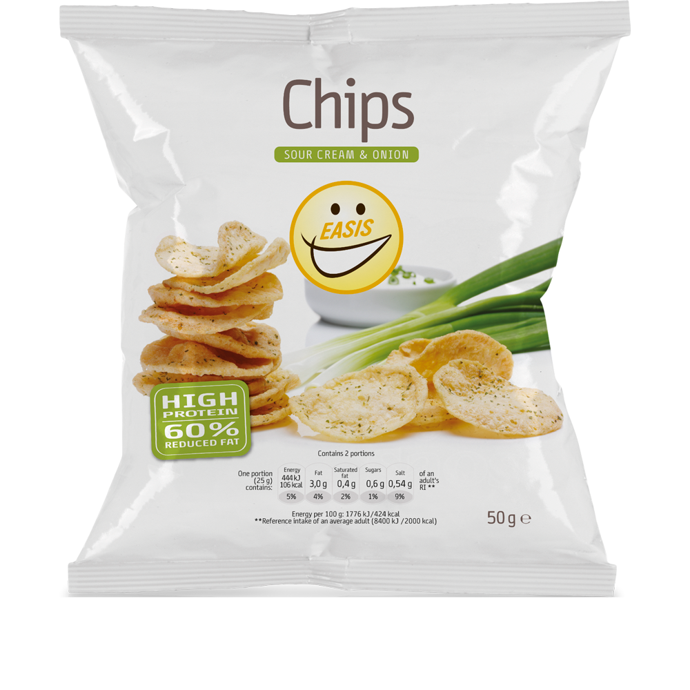 EASIS Crisps Sour Cream & Onion