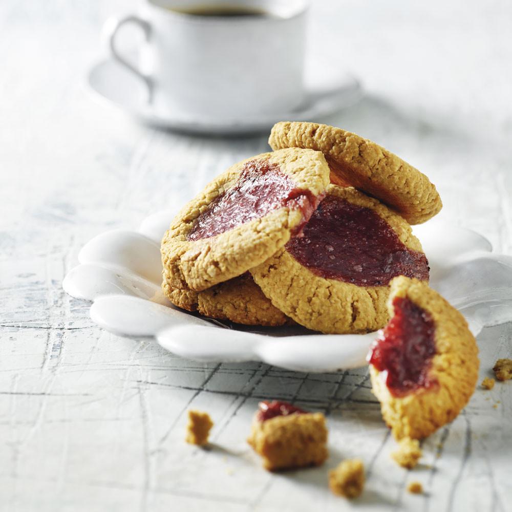 Butterbean cookies med marmelade