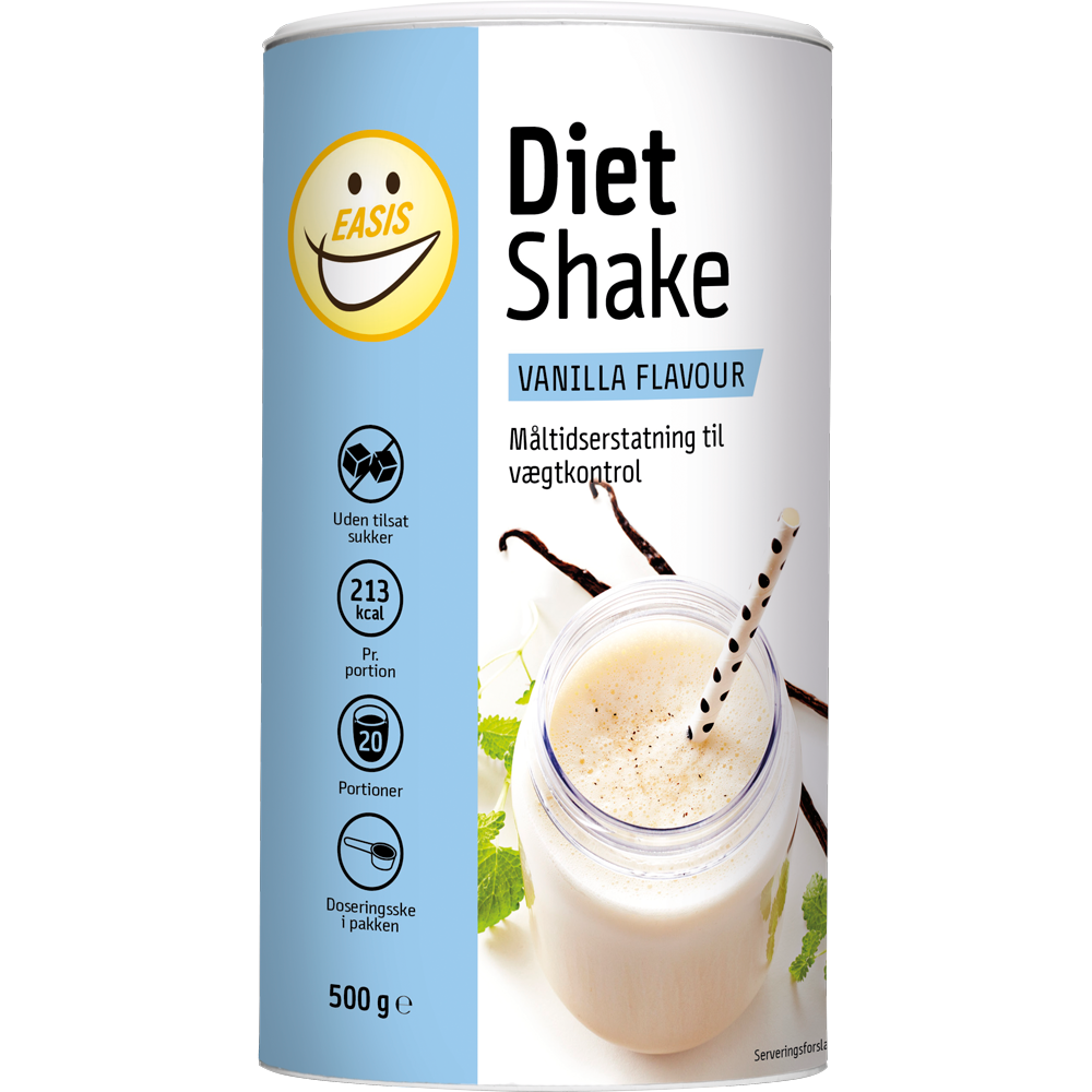 EASIS Diet Shake Vanilje 500g, 20 portioner