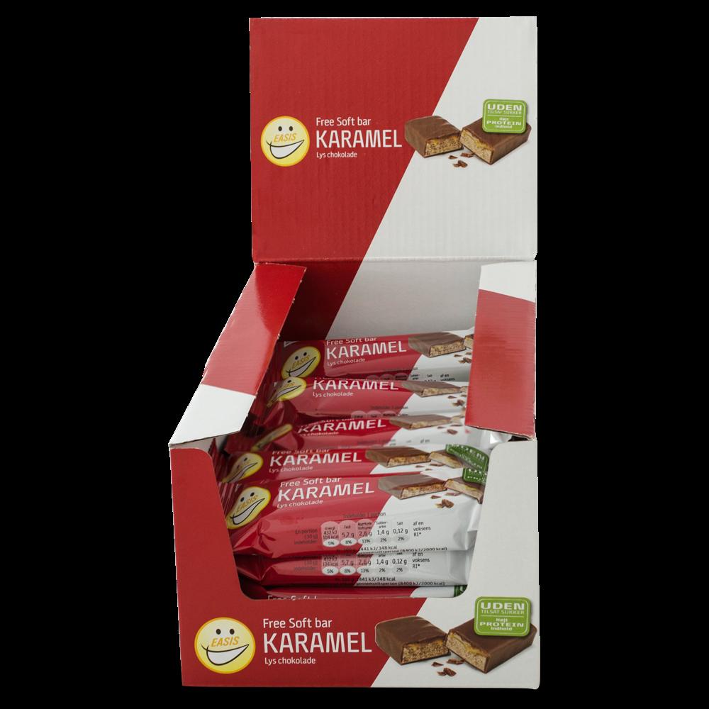 EASIS Soft bar Karamell og melkesjokolade, 24 stk.