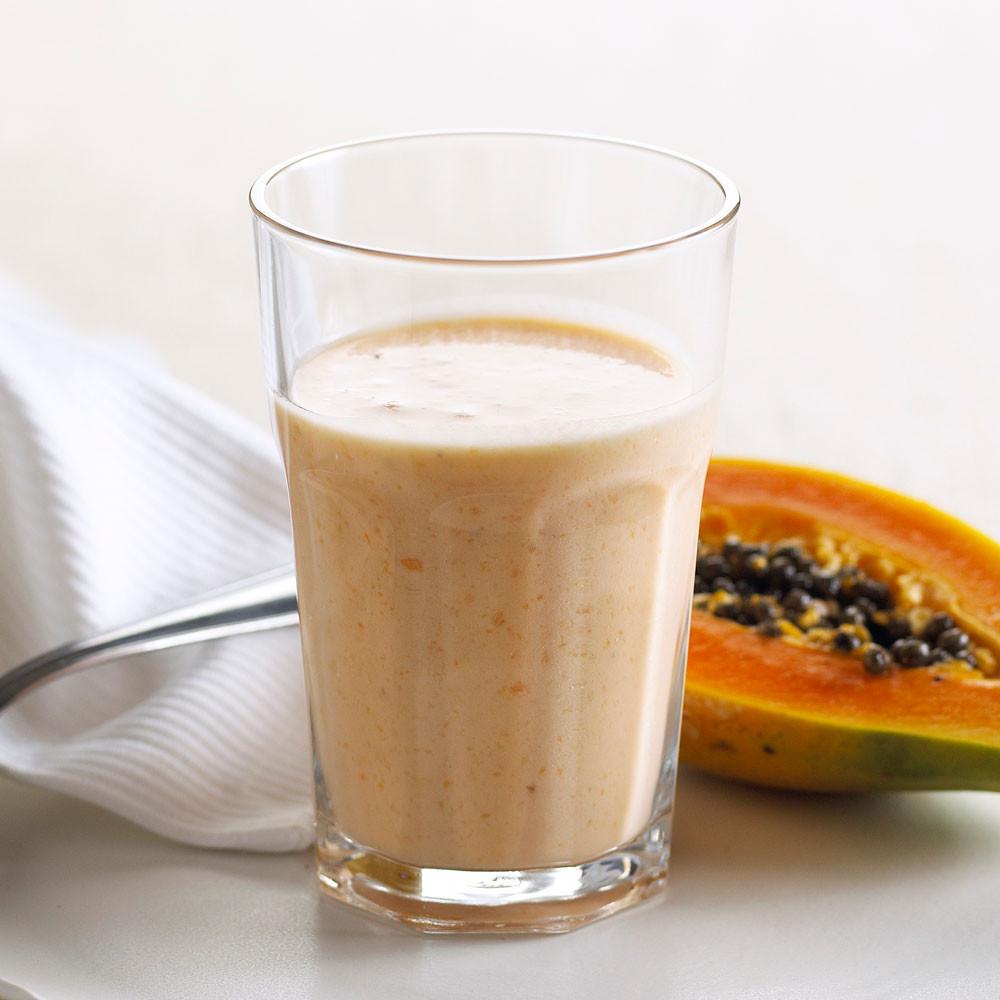 Papaya og banan milkshake