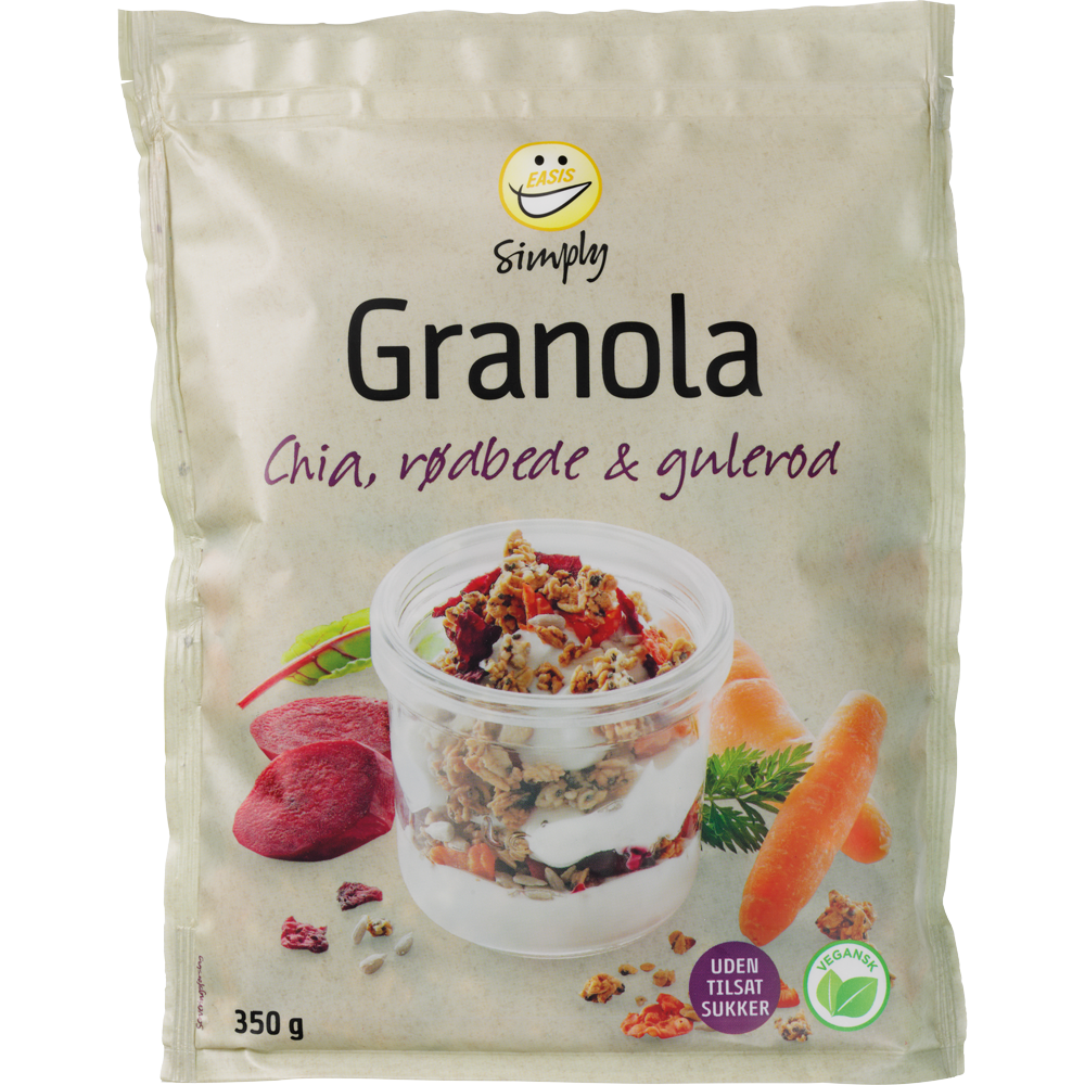 EASIS Simply Granola with Chia, Beetroot and Carrot