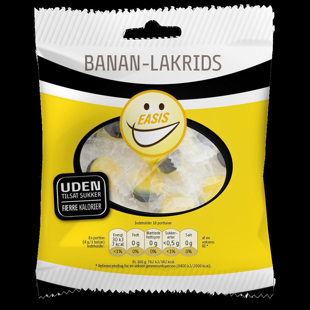 EASIS Banan Lakrids Bolsjer