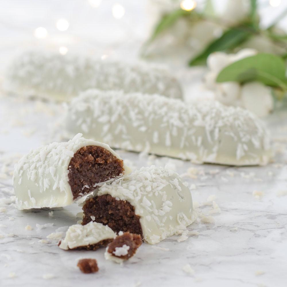 EASIS Trøffel White KOKOS med dadler og marcipan 1 stk