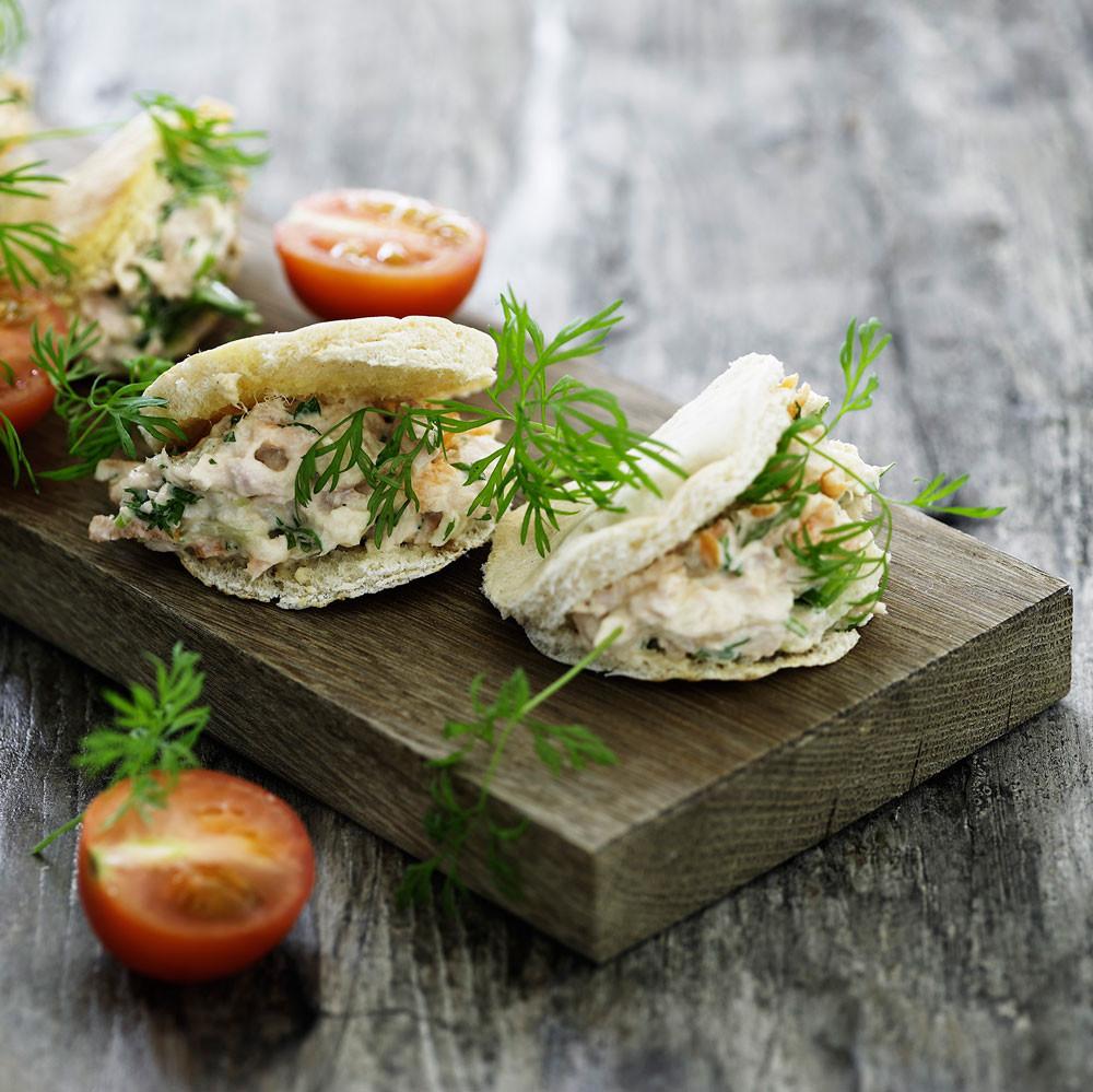 Mini-pita med tunsalat