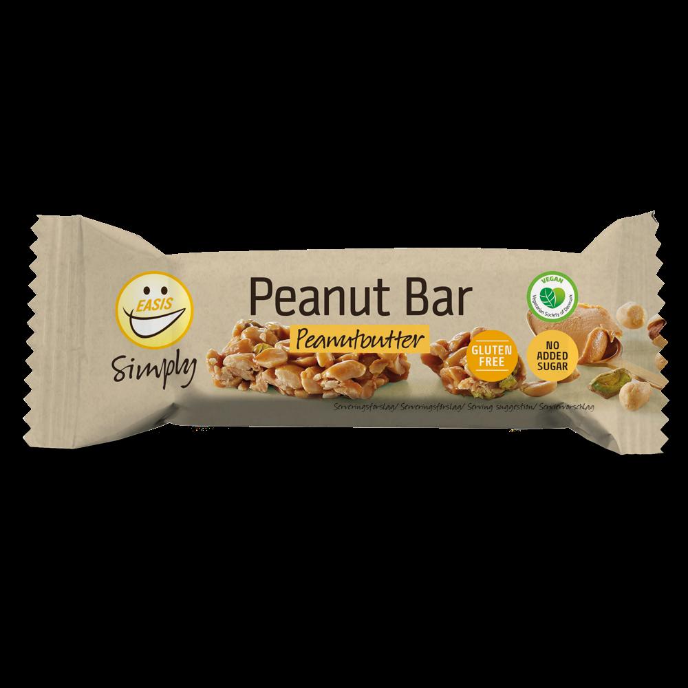 EASIS Simply Peanutbar med pistacienødder og peanutbutter 35g