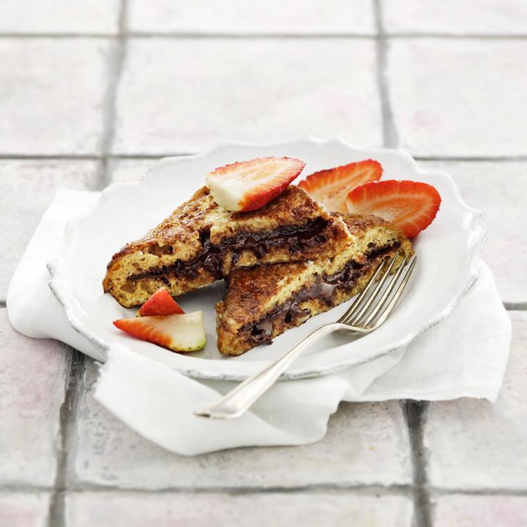 French toast med smørepålæg