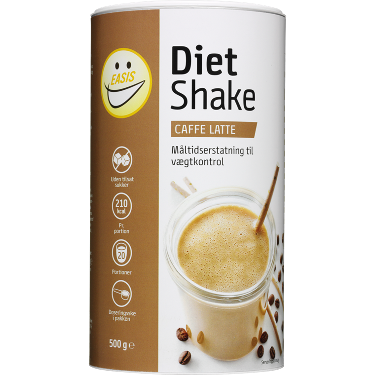 EASIS Diet Shake Caffe Latte 500g, 20 portioner