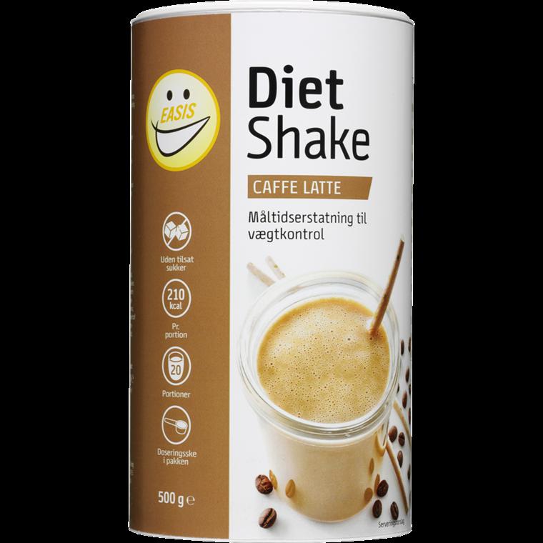 EASIS Diet Shake Caffe Latte 500g, 20 portioner