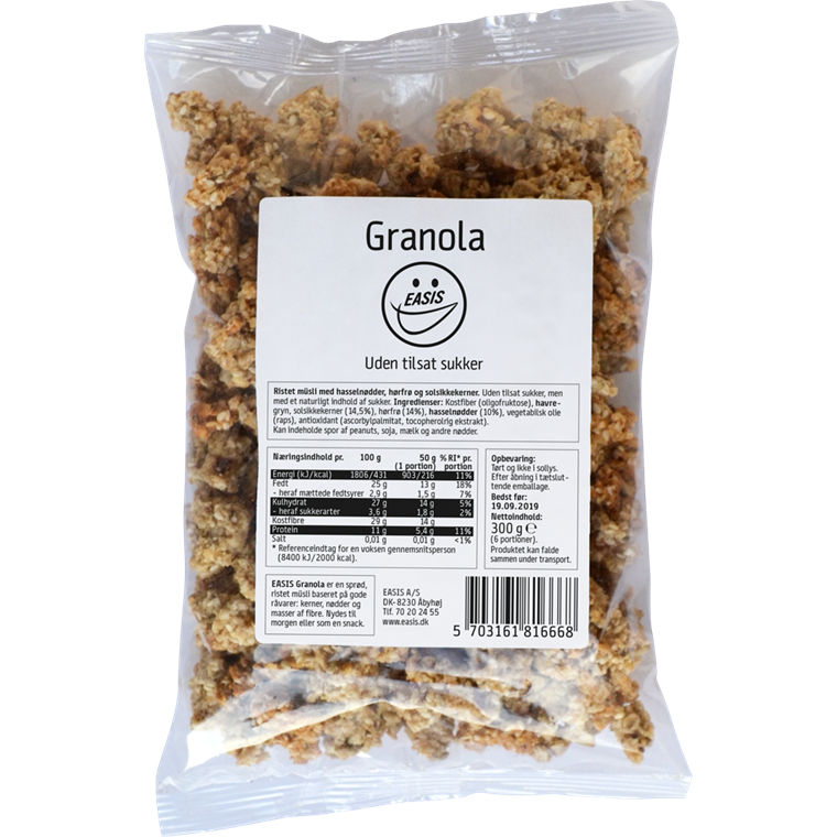 EASIS Granola Flaxseed 300g