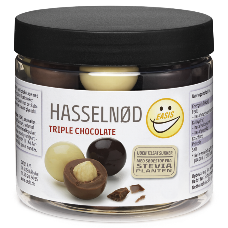 EASIS Hasselnøtt, triple chocolate