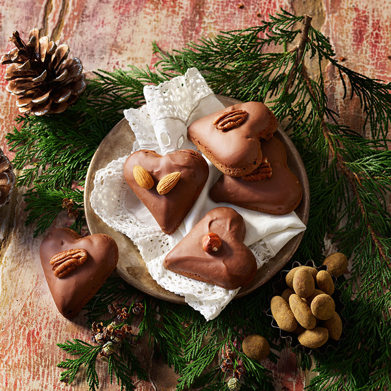 Krydrede chokolade julehjerter