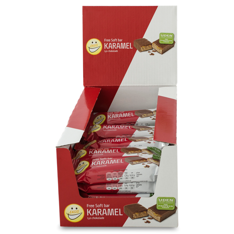 EASIS Soft bar Karamel og lys chokolade 24 stk.