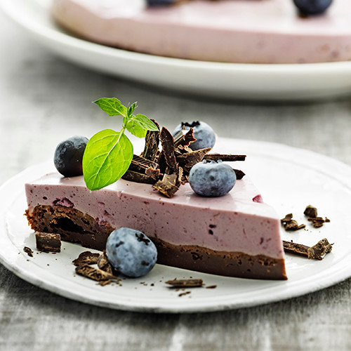 Brownie with Fruit Mousse