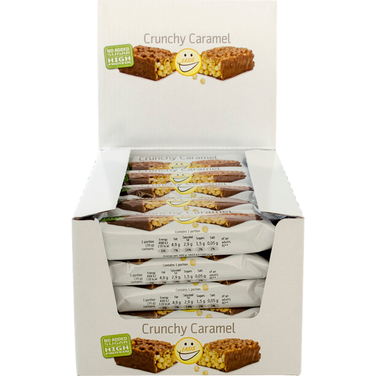 EASIS Crunchy Caramel bar 25 stk.