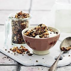 Hjemmelavet chokolade-granola