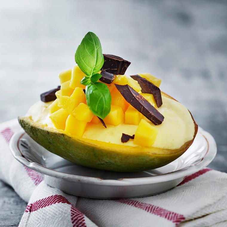 Mangois med chokolade