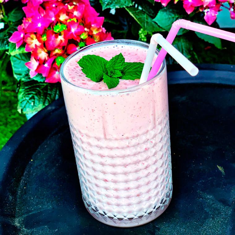 Protein/ jordbærsmoothie