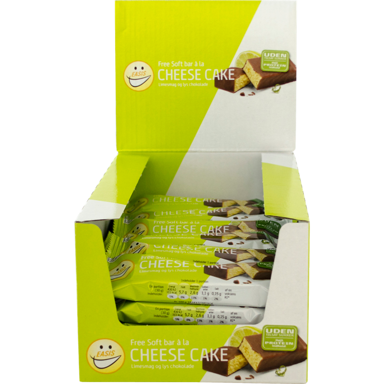 EASIS Soft bar Cheese Cake og lime 24 stk