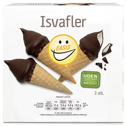 EASIS Isvafler 3 stk