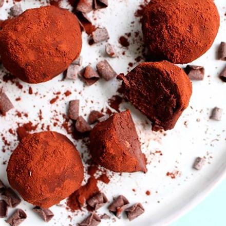 Kikærte-chokoladetrøfler