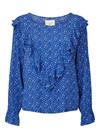 Lollys Laundry Jessie bluse i blå