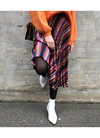 Neo Noir Fria Graphic Stripe nederdel i pink
