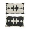 Oyoy Hopi cushion i mørkegrå og hvid