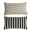 Oyoy Luna cushion i sort og hvid